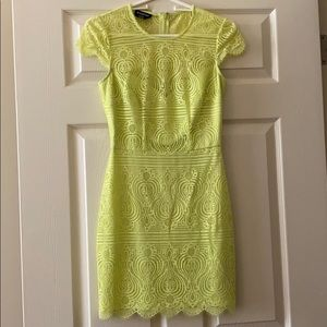 Lime green cocktail dress